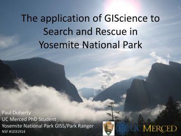 The Application of GIS to SAR.pdf - Sierra Nature Notes