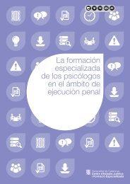 La formación especializada de los psicólogos en el - Generalitat de ...