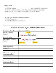 Romantic Reactions (Types of Chemical Reactions) - Cobb Learning