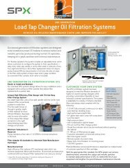Load Tap Changer Oil Filtration Systems - SPX Transformer Solutions