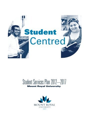 Student Services Plan - Mount Royal University