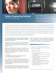 Systems Engineering Solutions - Total Resource Management