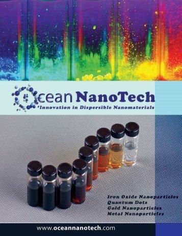 Download Ocean NanoTech's Product Catalog