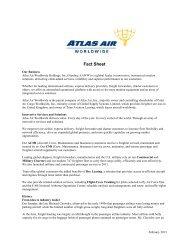 Fact Sheet - Atlas Air, Inc.