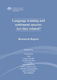 Language training and settlement success - AMEP Research Centre