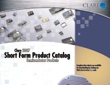 Short Form Product Catalog