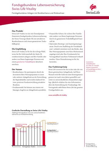 Factsheet Swiss Life Vitality