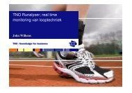 TNO Runalyser; real time monitoring van looptechniek