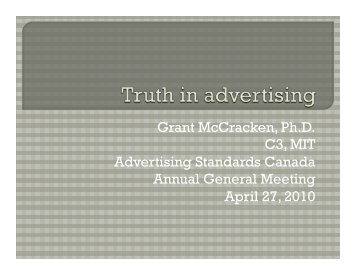 Truth in Advertising Matters - Advertising Standards Canada