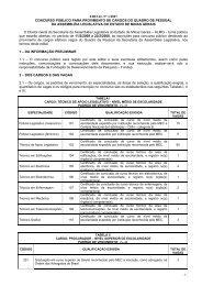 edital nº 1/2007 concurso público para provimento de ... - Fundep