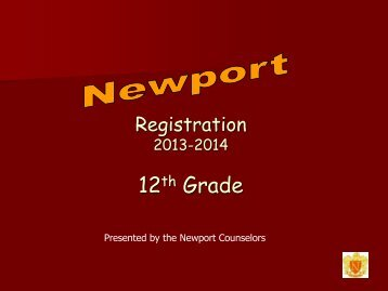 Registration Presentation for incoming 12th graders