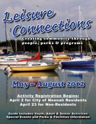 May – August 2012 - City of Neenah