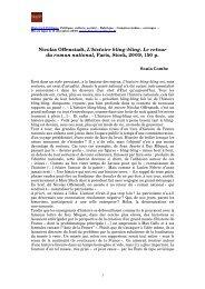 Nicolas Offenstadt, L'histoire bling-bling. Le retour du roman ...