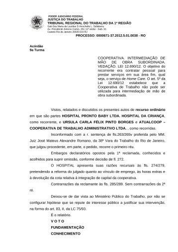 00006713720125010038#27-0 - Tribunal Regional do Trabalho da ...