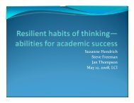 Resilient Habits of Thinking - Learning Communities