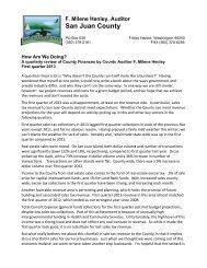 First Quarter 2013 Editorial - San Juan County