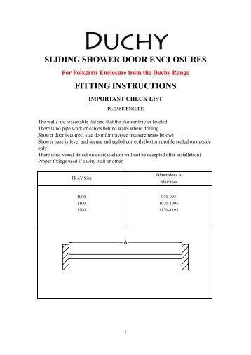sliding shower door enclosures fitting instructions - Heat \u0026 Plumb  sc 1 st  Yumpu & PVC patio Door-03780/1 - Heat and Plumb