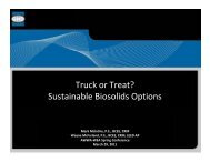 Truck or Treat? Sustainable Biosolids Options