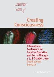 Creating Consciousness - Konferenz für Heilpädagogik und ...