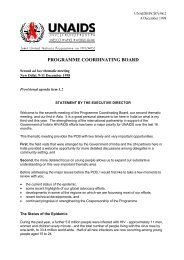 Programme Coordinating Board second ad hoc thematic ... - unaids