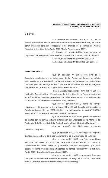 Concurso de Precios Nº 10 -ULP-2013 - Universidad de La Punta ...