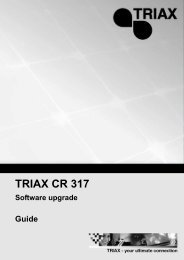 Triax CR 310 Cable STB Channel Editor