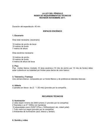 LA LEY DEL PÉNDULO RIDER DE ... - LaPlataforma
