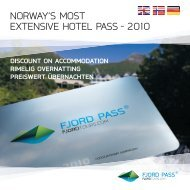 norwaY's most eXtensiVe Hotel pass – 2010 - Region Stavanger
