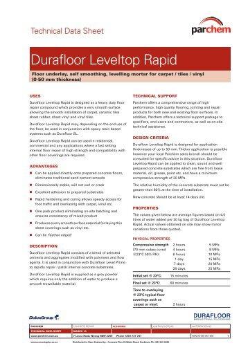 Durafloor Leveltop Rapid TDS - Parchem