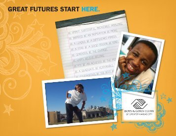 great futures start here. - the Boys & Girls Clubs of Greater Kansas City
