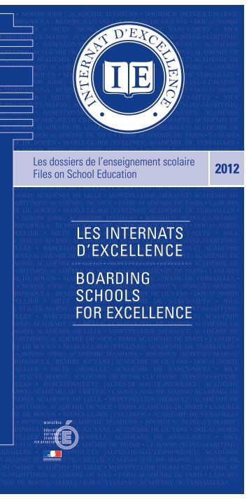 les internats d'excellence Boarding schools for excellence