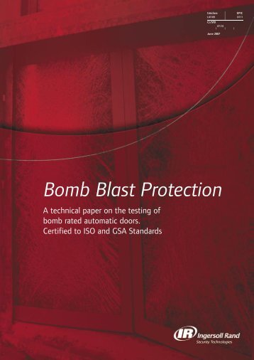 Bomb Blast Protection - Ingersoll Rand Security Technologies