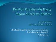 Periton Diyalizinde Hasta Yaşam Süresi ve Kalitesi M.Tuğrul Sezer ...