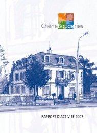 Rapport d'activité 2007 [2 Mo] - Chêne-Bougeries
