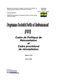 PSFE Gabon Cadre de Politique et de de Réinstallation - CBFP