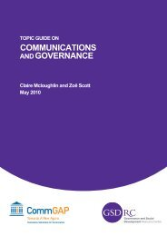 Topic Guide on Communications and Governance - World Bank ...