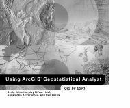 Using ArcGIS™ Geostatistical Analyst GIS by ESRI
