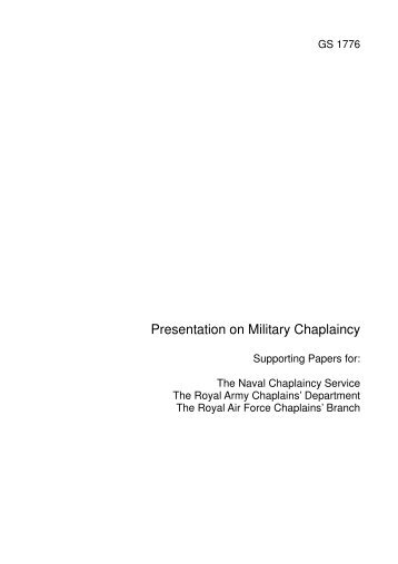 Presentation on Military Chaplaincy - Church of England