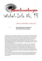 Wirbel-Info 13 - frauenforumhorgen