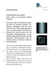 Download Pressemitteilung - B.Special 2012 - Berker