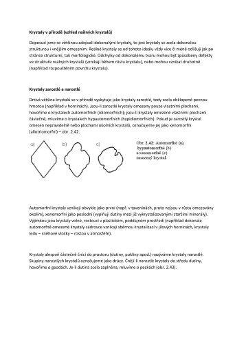 Přirozený vývin krystalových tvarů