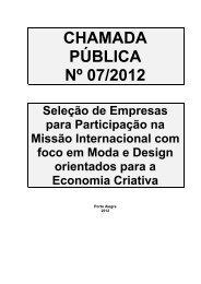 Chamada Pblica 07-2012 Misso Internacional Moda e ... - Sebrae