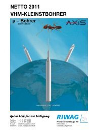 Kalkulation ab 1.7.11.xlsx - Riwag Präzisionswerkzeuge AG
