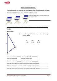 Student Activities for Theorem 7 The angle opposite ... - Project Maths