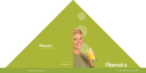 Fibersol Health Brochure - ADM