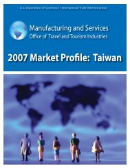 Taiwan - Tourism Industries - Department of Commerce