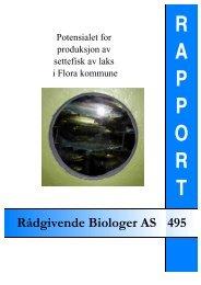 Potensialet for produksjon av settefisk laks i Flora kommune