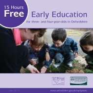 Free Early Education - Oxfordshire County Council