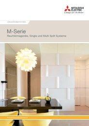M-Serie Raumklima, Single und Multi Split Systeme