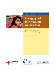 Managing and Implementing an Evaluation - FSN Network Portal